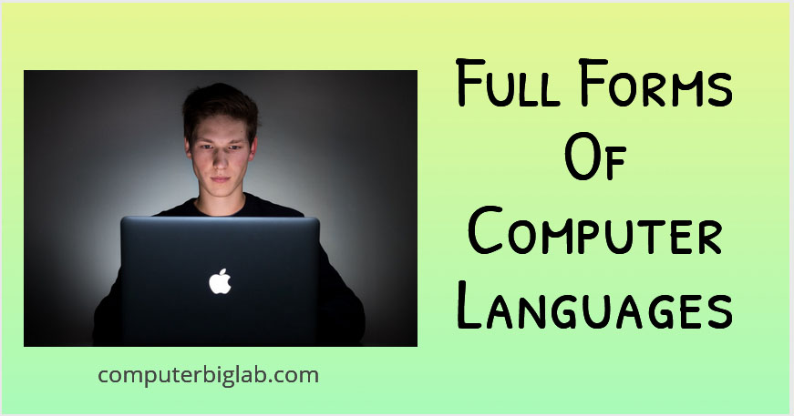 Full Forms Of Computer Languages